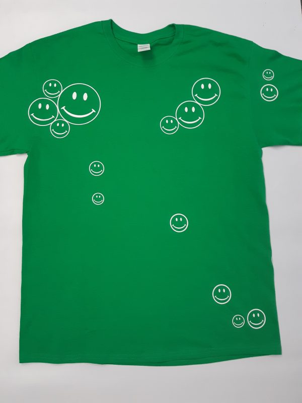 green smiley front
