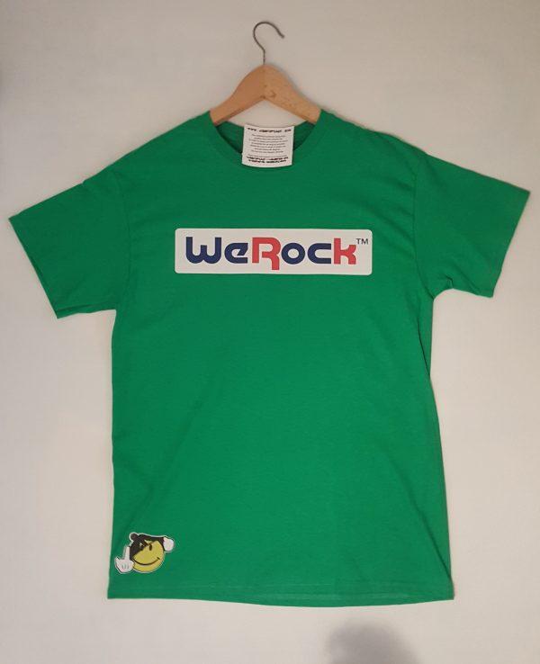 WeRock tee green Front